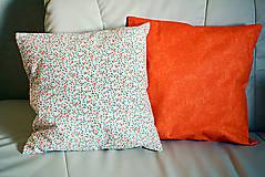 Úžitkový textil - Jarný vankúš 3  -  drobné kvietky - 9229899_