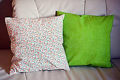 Úžitkový textil - Jarný vankúš 5  -  zelený - 9230008_