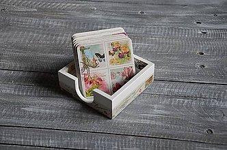 Pomôcky - podložky pod šálku/pohár 9 ks + box -