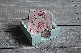 Pomôcky - podložky pod šálku/pohár 6 ks + box -