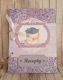 Papiernictvo - fialkový receptár - 9229397_