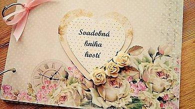 Papiernictvo - svadobná kniha hostí - 9229931_
