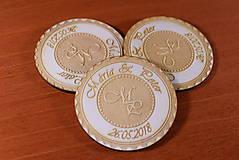 Darčeky pre svadobčanov - Svadobná magnetka drevená gravírovaná 149 - 9232613_
