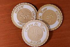 Darčeky pre svadobčanov - Svadobná magnetka drevená gravírovaná 149 - 9232614_