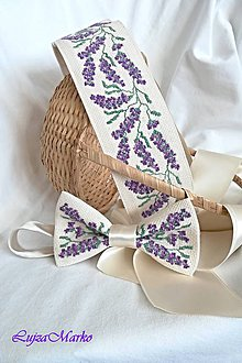 Doplnky - Levanduľový sen motýlik - 9232014_