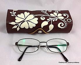 Krabičky - púzdro na okuliare Kvetinové - 9232571_