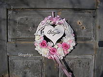 """Dekorácie - romantický veniec..s """"Vitajte"""" - 9229717_"""