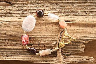 Náramky - Boho náramok z minerálov - 9236315_