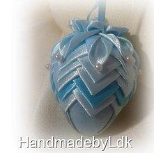 Dekorácie - Veľkonočné vajíčko modré - 9234182_