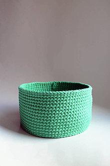 Košíky - Košík - Smaragdový svetlý | Zelený | malý - 9235297_