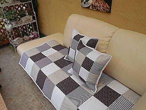 Úžitkový textil - PREHOZ na GAUČ , SEDACIU SUPRAVU (160 x 220 - Hnedá) - 9234166_