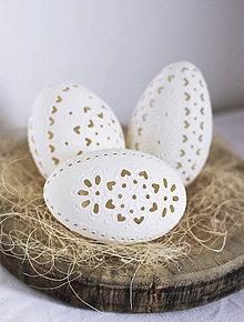 Dekorácie - husacie kraslice biele - 9237156_