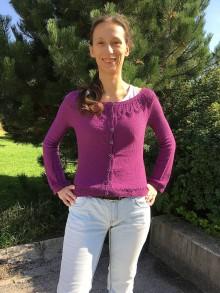 Svetre/Pulóvre - návod na dámsky sveter s listovým sedlom, veľ 36 - 9238120_