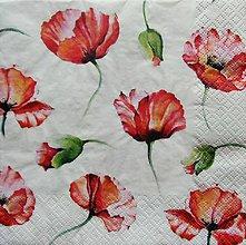 Papier - S1181 - Servítky - mak, maky, maková, kvety, poppies, flowers - 9236400_