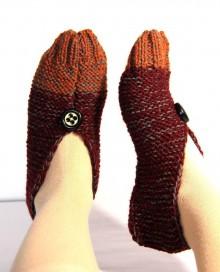 Obuv - Vlnené papuče - dvojfarebné - 9237139_