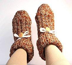 Obuv - vlnené papuče / ponožky - 9237157_
