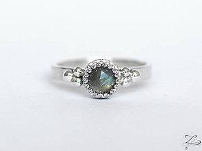 Prstene - Strieborný prsteň s labradoritom - La Dora - 9234554_