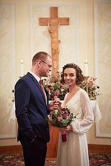 Šaty - mušelínové splívavé svadobné šaty - 9238522_