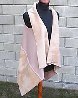 Iné oblečenie - Béžová vesta - 9236773_