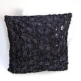 Úžitkový textil - Obliečka na vankúš Čierna - 9237017_