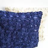 Úžitkový textil - Obliečka na vankúš Modrá - 9237485_