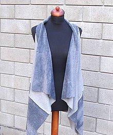 Iné oblečenie - Sivá vesta - 9234410_