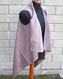 Iné oblečenie - Svetlo hnedá vesta - 9235108_