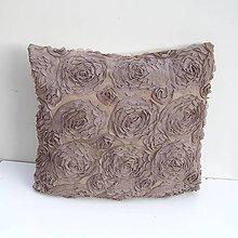 Úžitkový textil - Obliečka na vankúš Hnedá - 9237569_