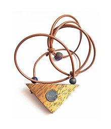 Náhrdelníky - Achátová drúza v agátovom dreve - 9238719_
