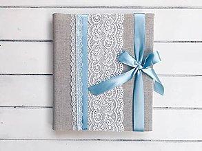Papiernictvo - niečo požičané niečo modré... - 9234269_