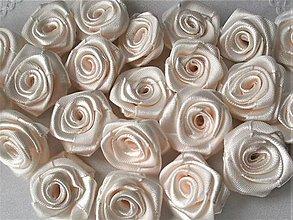 Galantéria - Saténová ružička priemer 2,5cm - 9236083_