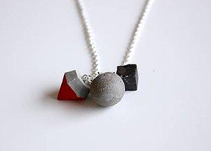 Náhrdelníky - Betónový mix trio náhrdelník - 9236138_
