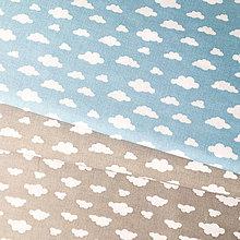 Textil - sivé mini obláčiky; 100 % bavlna Francúzsko, šírka 160 cm, cena za 0,5 m - 9234292_