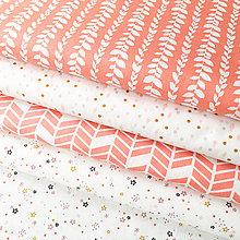 Textil - drobné hviezdičky; 100 % bavlna Francúzsko, šírka 160 cm, cena za 0,5 m - 9235422_