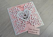 Papiernictvo - Elegantné svadobné oznámenie - 9237848_