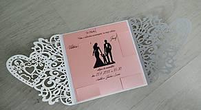 Papiernictvo - Elegantné svadobné oznámenie - 9237853_