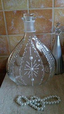 Nádoby - Ľadovoperličková fľaška - 9234567_