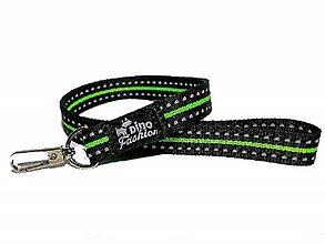 Kľúčenky - Reflexná kľúčenka zelená - 9238173_