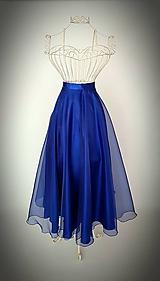 Saténová suknička s organzou