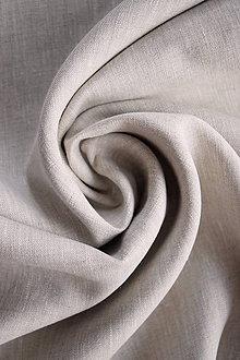 Textil - Len 100% měkčený melírovaný bílo-béžový - 9237508_
