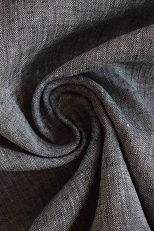 Textil - Len 100% chambray melírovaný bílo-černý - 9237547_