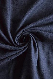 Textil - Bio 100% bavlněný flanel GOTS – navy - 9237702_