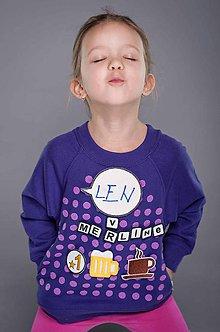 Mikiny - Chateee - detská komunikačná mikina - fialová (104 cm - 3/4 - Fialová) - 9236902_