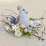 - Jarná dekorácia so sliepočkou - 9237802_