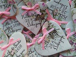 Darčeky pre svadobčanov - svadobné magnetky pre hostí - 9238688_