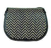 Kabelky - Lovecká kabelka ručne vyšívaná z pravej kože - béžové vyšívanie - 9237326_