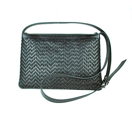 Kožená kabelka ručne vyšívaná v čiernej farbe-čierne vyšívanie ... e5250681471
