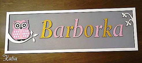 Dekorácie - Drevená tabuľka sovička k narodeniu dieťaťa s vlastným menom a dátumom OWL - 9236860_