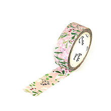 Papier - Washi páska ružová lúka - 9237207_