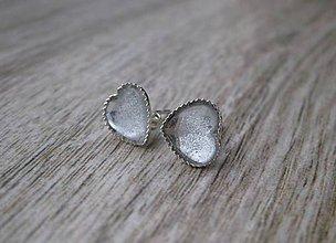 Náušnice - Srdiečka mini napichovačky - akrylové (Priehľadná č.1835) - 9234443_